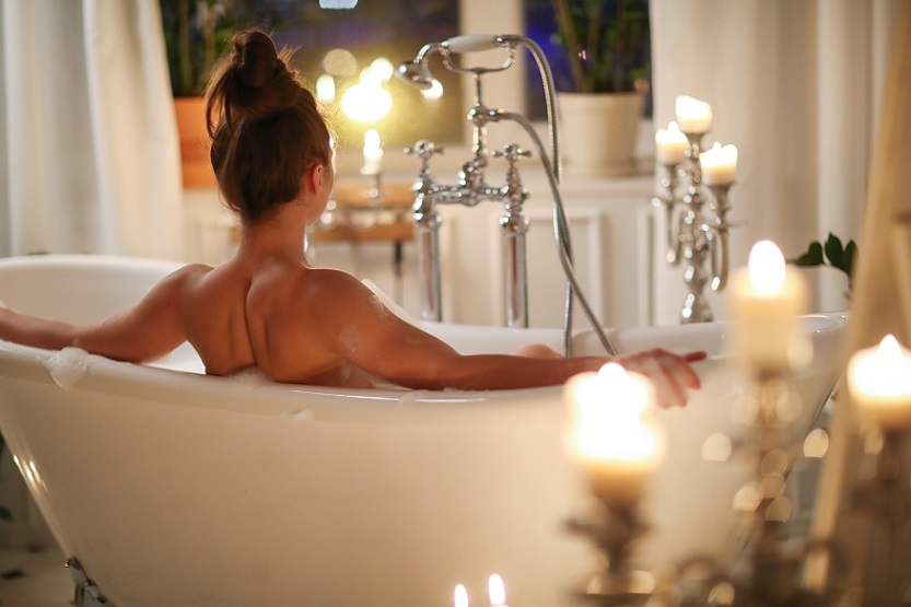 a relaxing and soothing bath